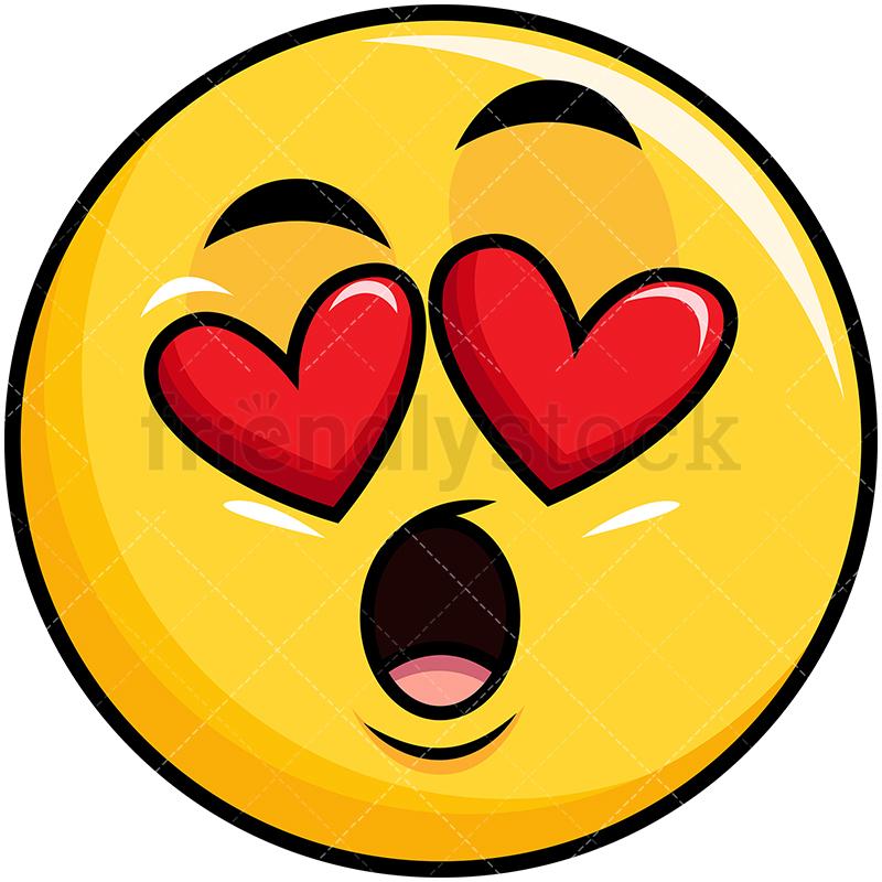 In Love Yellow Smiley Emoji.