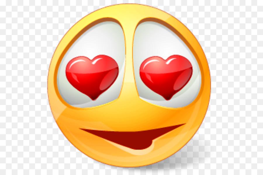 Heart Eye Emoji png download.