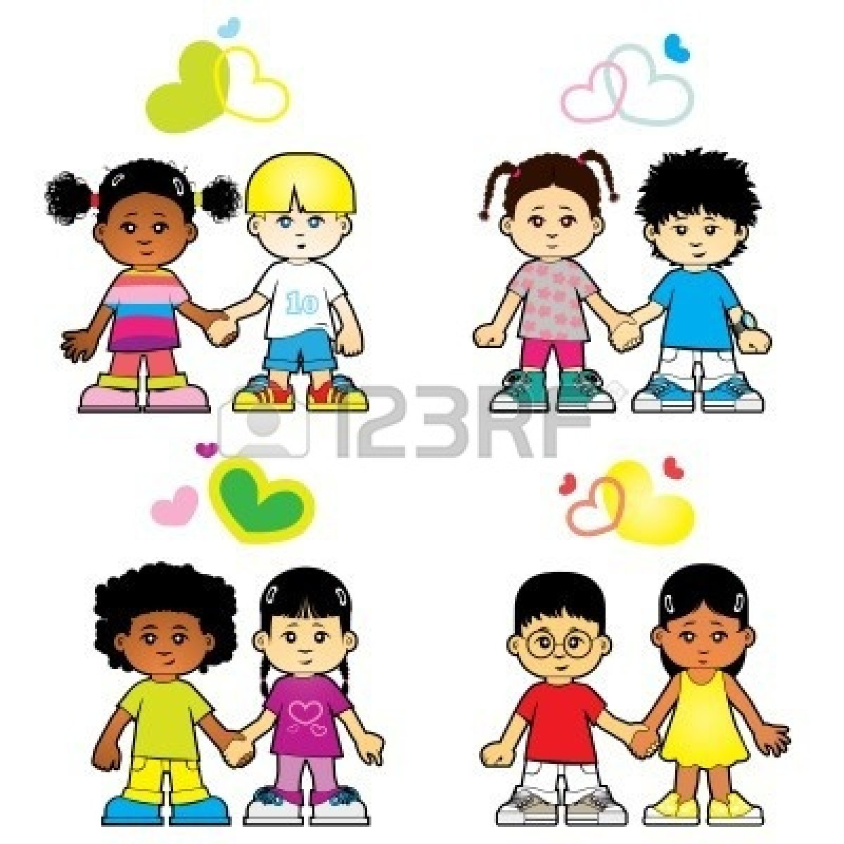 Group Of Kids Clipart.