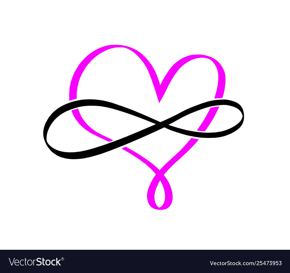 Pink infinity symbol love forever element.