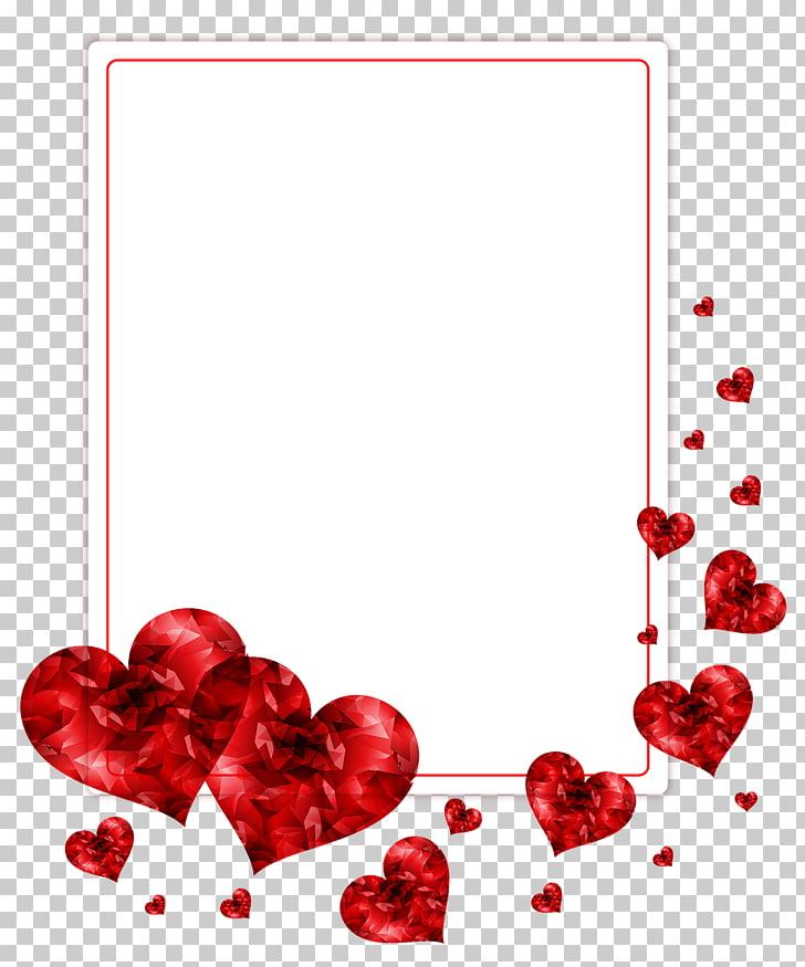 Desktop file formats, love frame, red hearts PNG clipart.