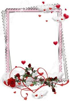15 PNG love Frame cutouts with hearts for romantic photo.