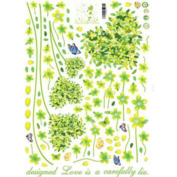 Romantic Love Grass Skirting Decorative Wall Sticker.