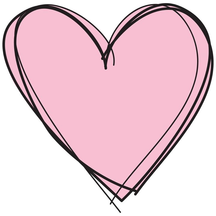 Pink love heart clipart.