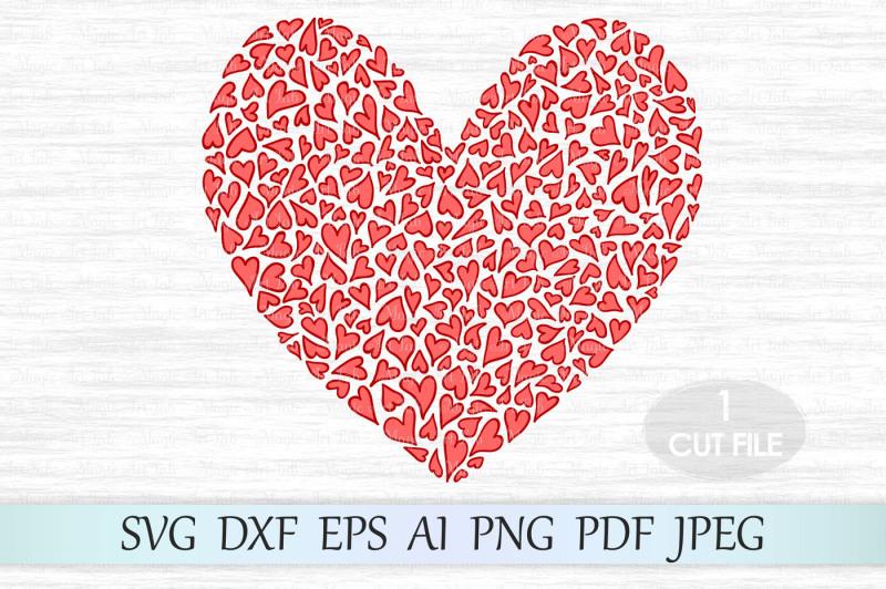 Free Heart svg file, Love svg, Valentine svg, Heart clipart.