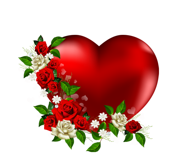 Heart Png With Flowers Love Heart Image Clipart.