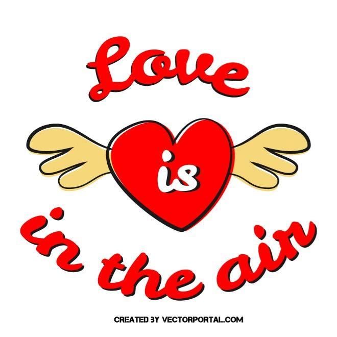 LOVE IS IN THE AIR.