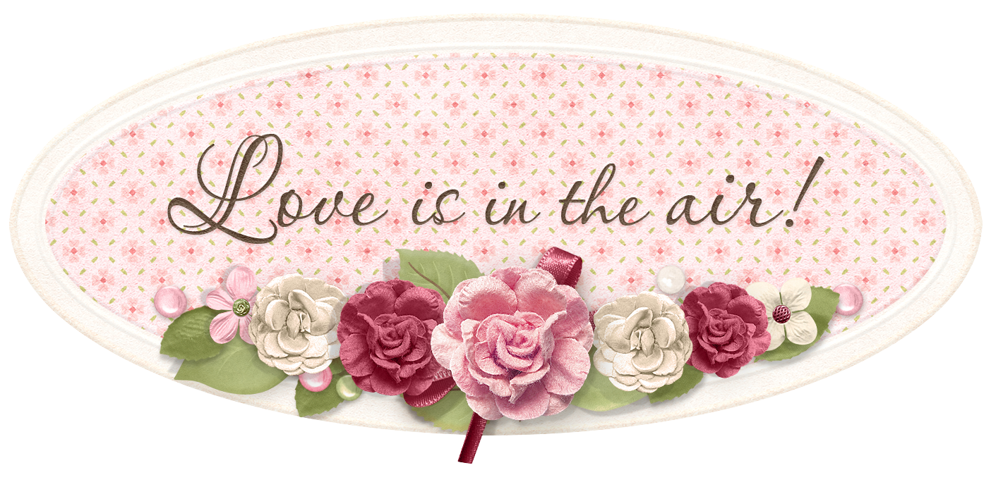 Love is in the Air Label PNG Clipart Picture.