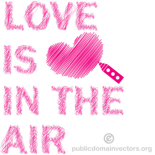 Love is in the air vector clip art by publicdomainvectors on.