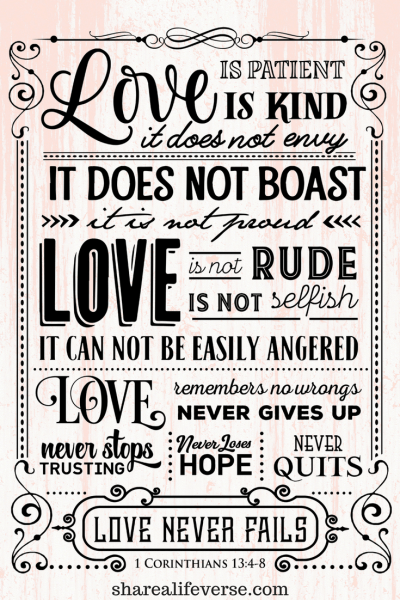 1 Corinthians 13, love is patient, love is kind, what is.