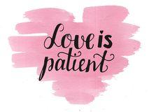 Love Is Patient Clipart.