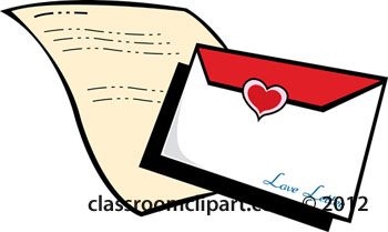 Clipart of the first love letter the bible.