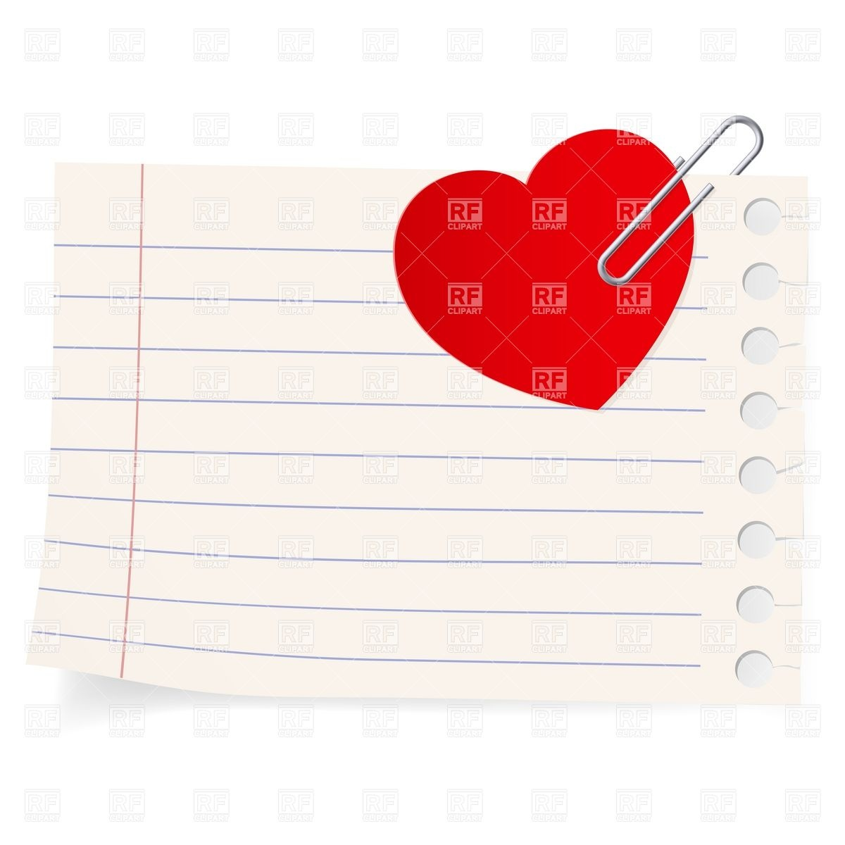 Love Note Clipart.