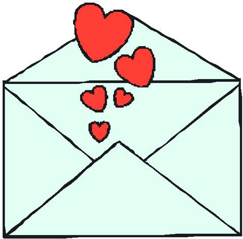 Love letter clipart.