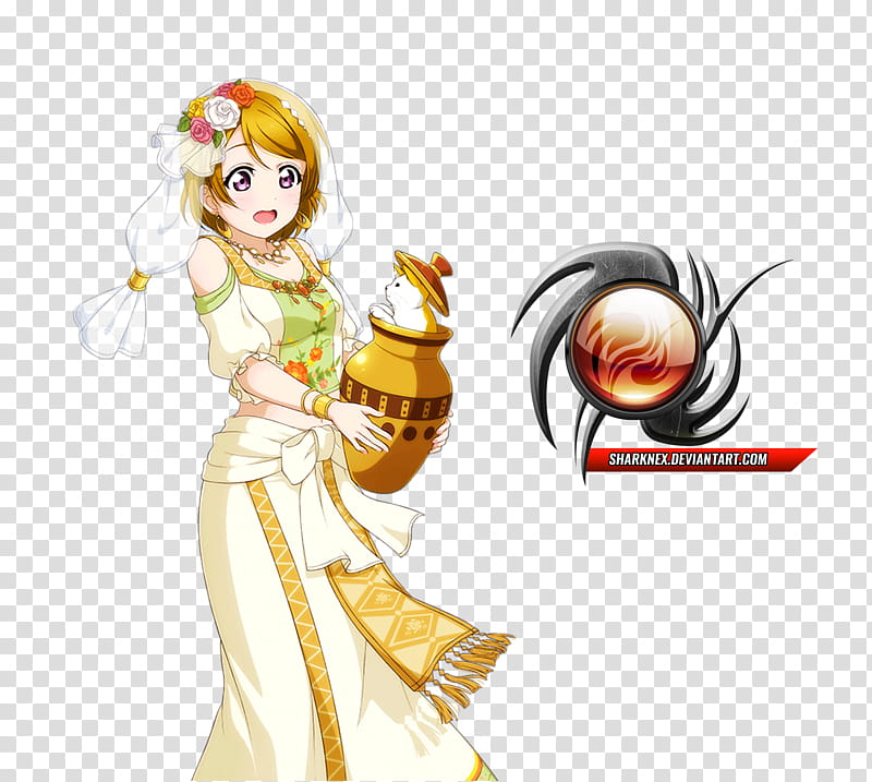 Love live Hanayo cute arabian clothes render transparent.