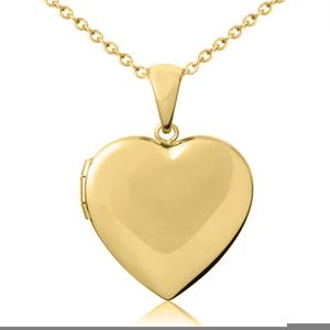 Heart Shaped Locket Clipart.