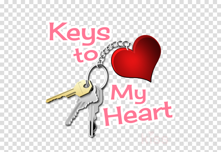 keychain text heart love logo clipart.