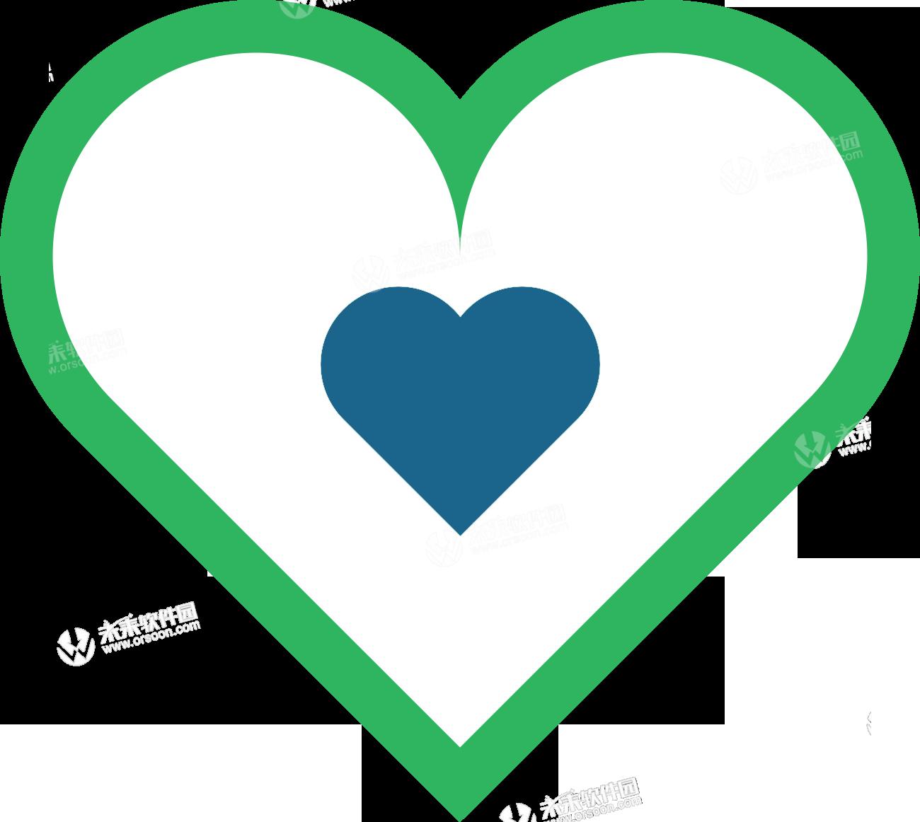 Love Logo Heart Text.