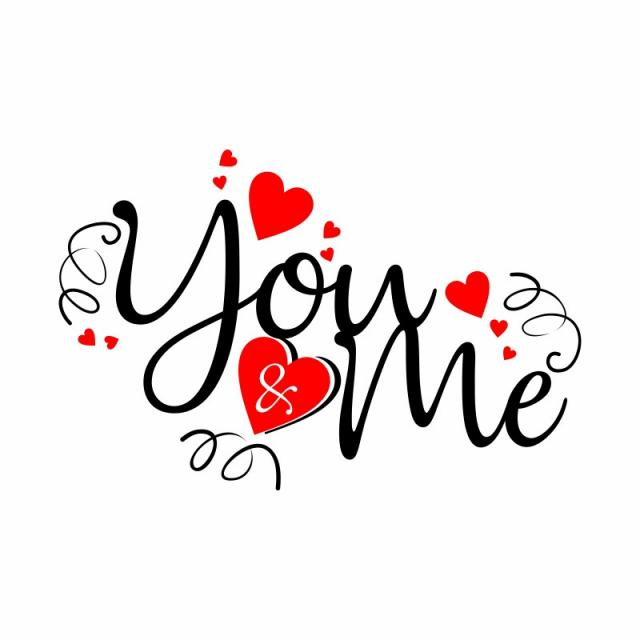 You Amp; Me, Valentines, You &, Me PNG and Vector with.