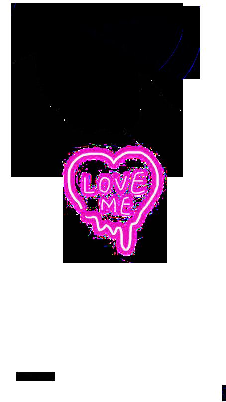 Наклейка Love me PNG.