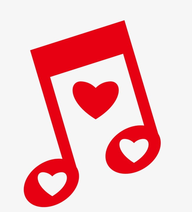 Love music symbol PNG clipart.