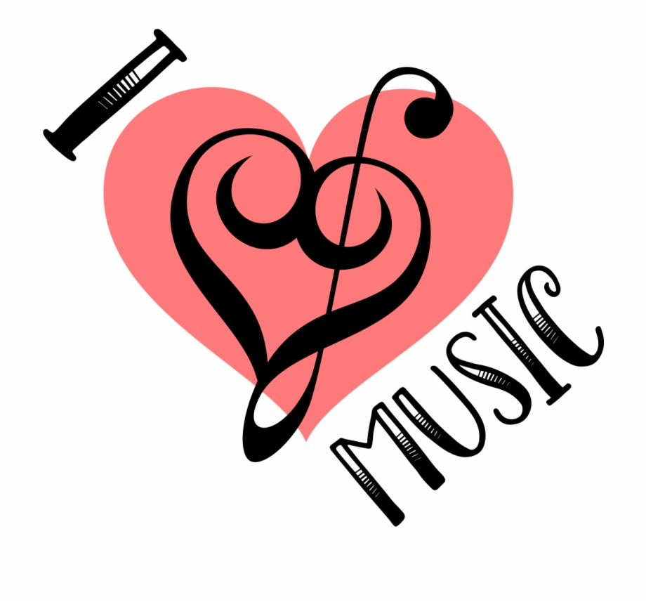 I Love Music Svg Treble Clef.