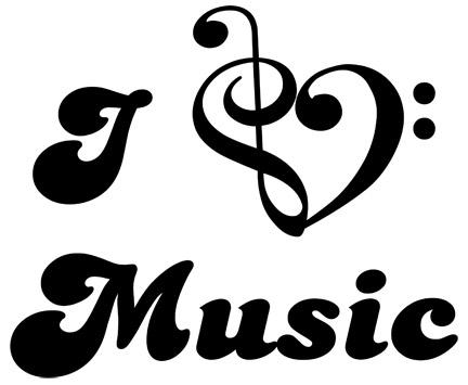 I Love Music Clipart.