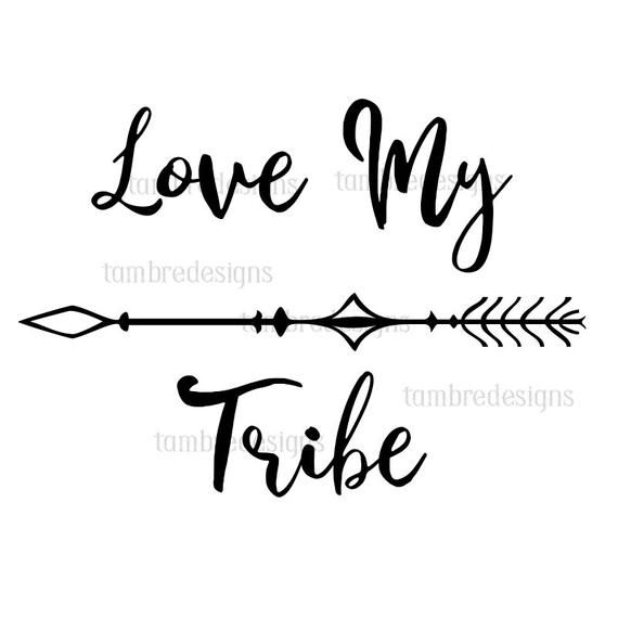 Love My Tribe SVG Clip Art t.