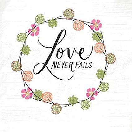 Amazon.com: Posterazzi Love Never Fails Poster Print by.