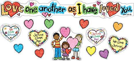 Carson Dellosa Christian Love One Another Bulletin Board Set (210020).