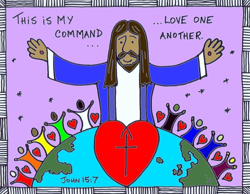 Love one another clip art.