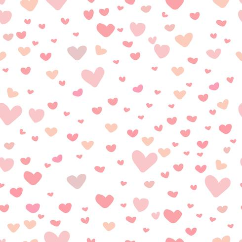 Heart abstract pattern background, Love doodle style pattern.