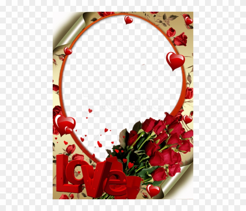 Free Png Red Transparent Frame With Roses Love And.