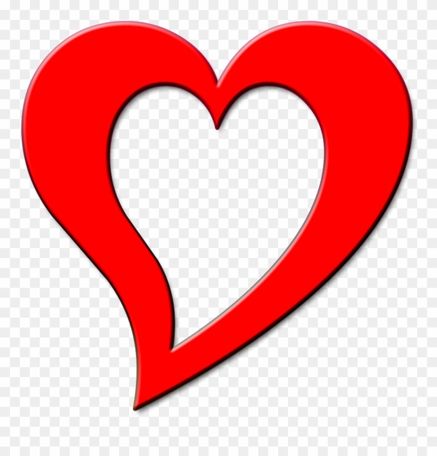 Wedding, Red, Heart, Outline, Design, Love.