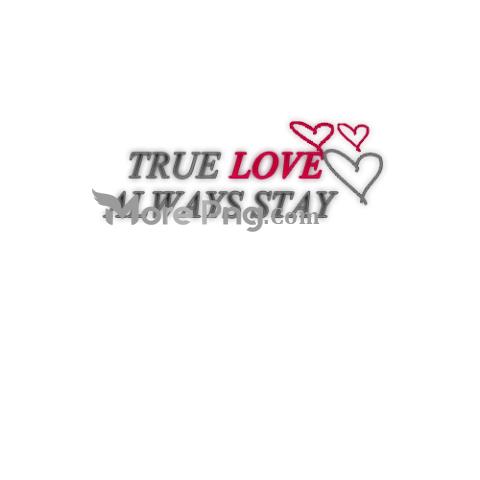 True Love Text PNG.