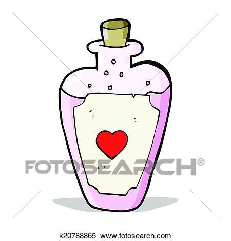 Cartoon love potion Clipart.