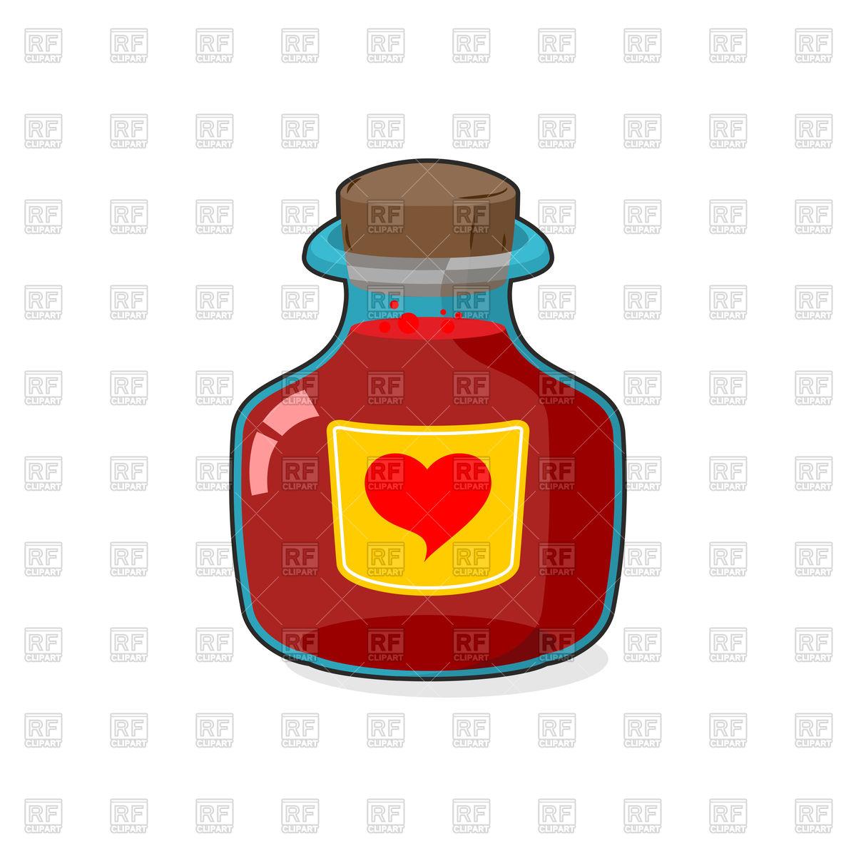 Love potion bottle Stock Vector Image.