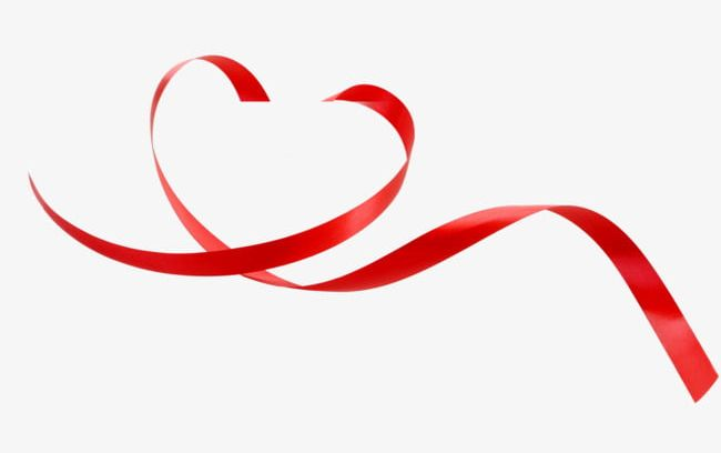 Red Love Ribbon Decoration PNG, Clipart, Decoration.