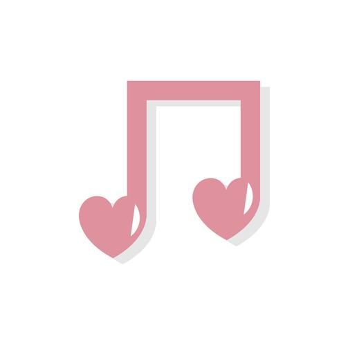 Love song Valentines day icon.