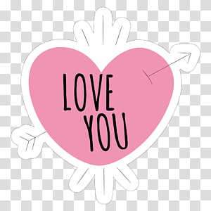 Sticker Love Wall decal Paper, love you transparent.