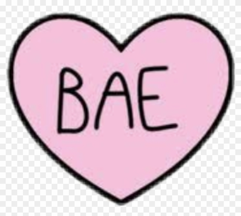 bae #love #heart #pink #aesthetic #png #sticker #tumblr.