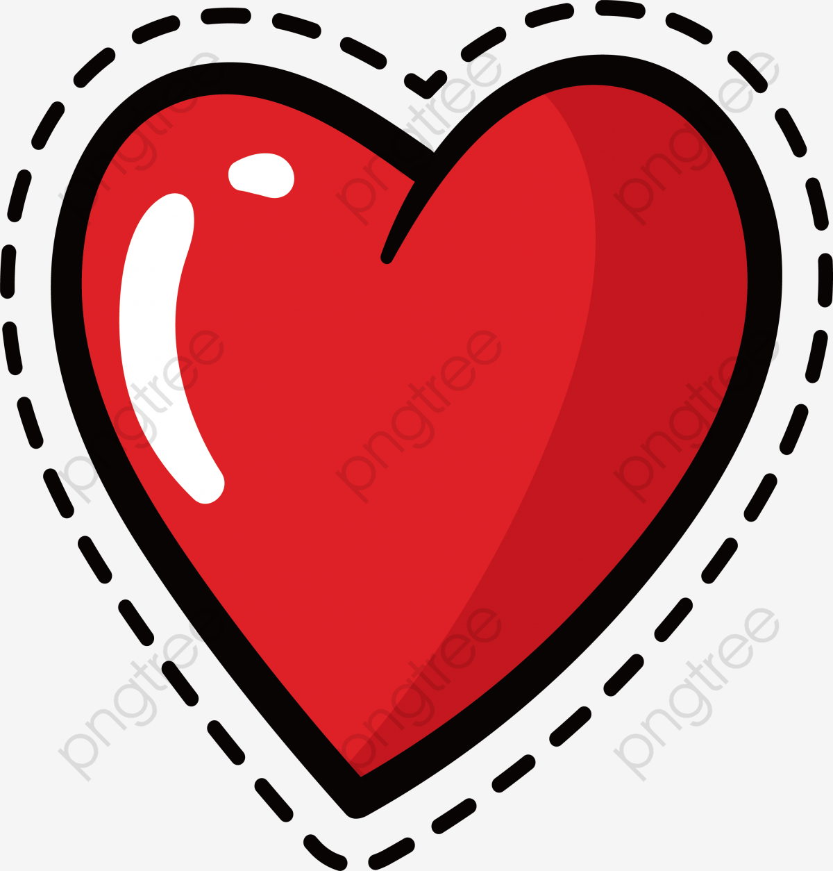Red Love Sticker, Vector Png, Love, Love Sticker PNG and.