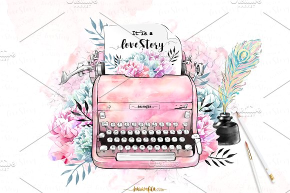 Love Story Clipart.
