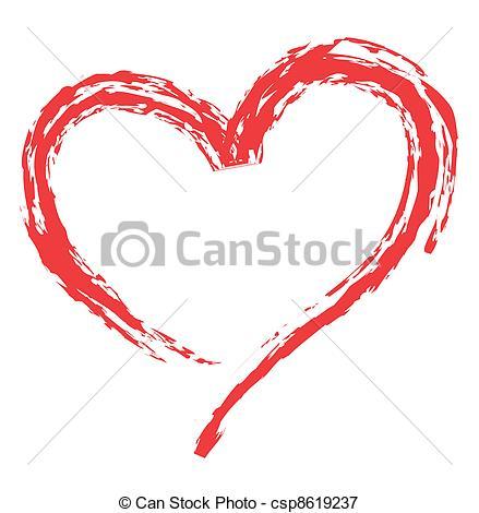 Vectors Illustration of heart shape for love symbols.