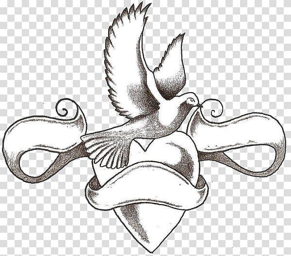 Tattoo Love Hearts Drawing Body art, love Tattoo transparent.