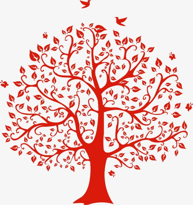 Love tree PNG clipart.