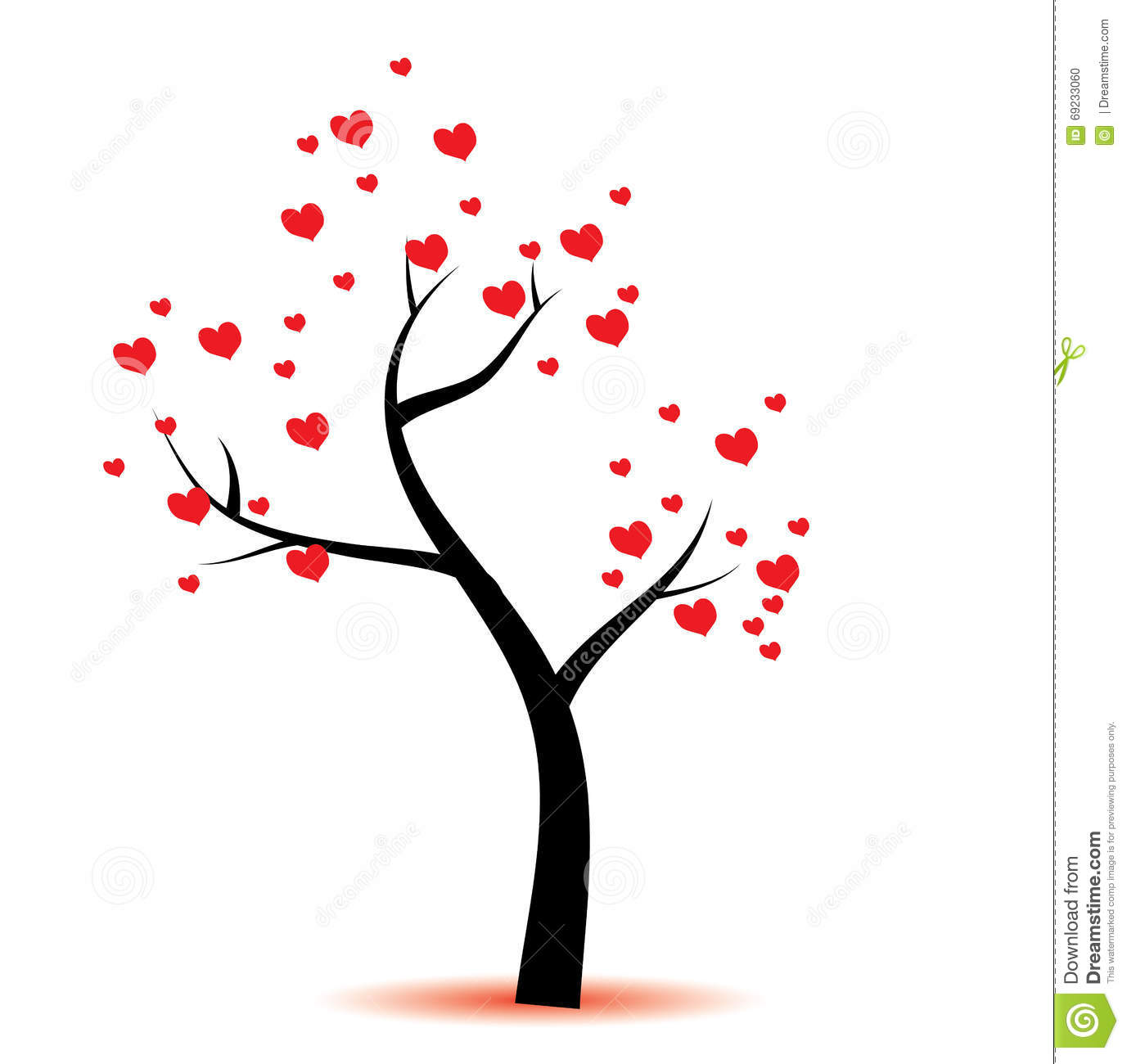 Love Tree Clipart.