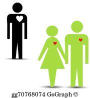 Love Triangle Clip Art.