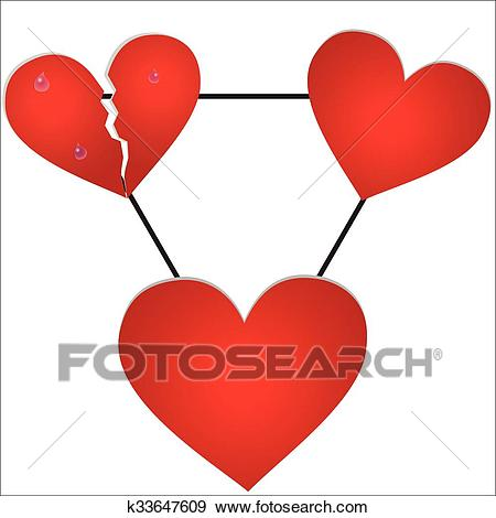 The love triangle Clip Art.
