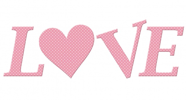 Love Word Clipart Free Stock Photo.